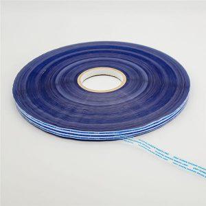 Cinta de sellado de bolsas permanente con película azul
